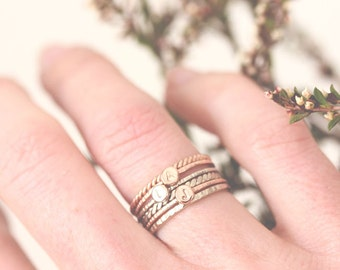 14k gold initial ring, letter ring 14k rose gold, personalized, stackable, stack ring, custom ring,  font, solid gold, initial jewelry, gift