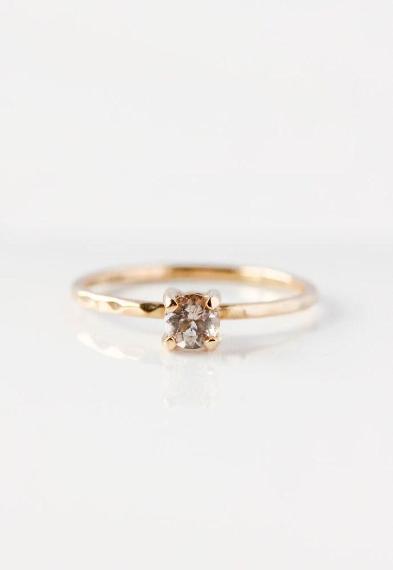 Morganite 14k Gold Ring engagement yellow gold alternative image 0