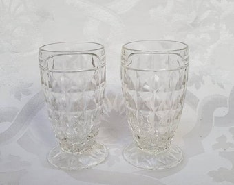Pair of Unique Retro Wafer Waffle Champagne Glasses Wedding Anniversary Toast Cheers