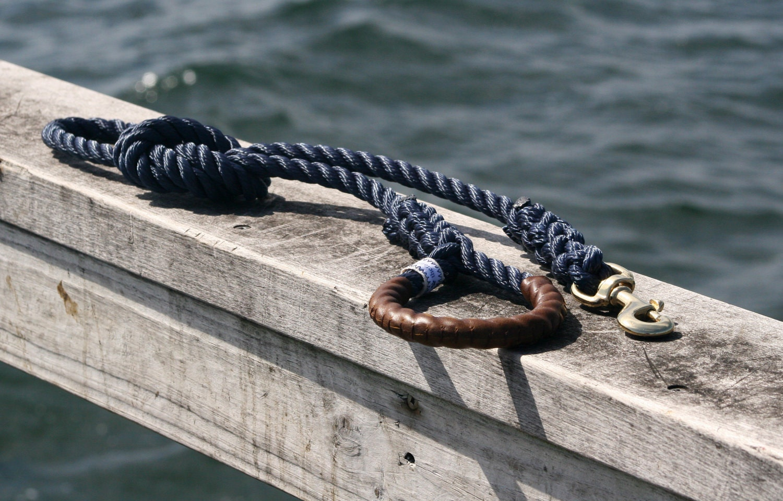 "Nautical Dog Leashes - the Fair Lead ""Classic"" (Navy)"