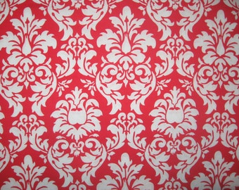"Michael Miller Dandy Damask red white 34"" X 42"""