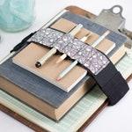 Adjustable Bandolier // petals // (a better pencil case, journal pen holder, book strap, pen loop, pencil roll, pen bandolier)