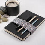Journal Bandolier // petal // (a better pencil case, journal pen holder, book strap, pen loop, pencil roll, pen bandolier)