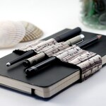 Journal Bandolier // birches // (a better pencil case, journal pen holder, book strap, pen loop, pencil roll, pen bandolier)
