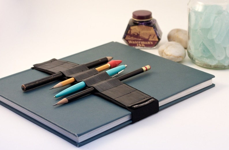 Large Journal Bandolier // recycled rubber // a better pencil image 0