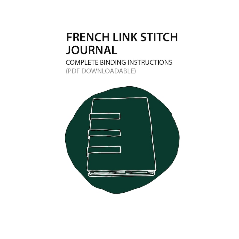 French Link Stitch Journal Bookbinding instructions only PDF image 0