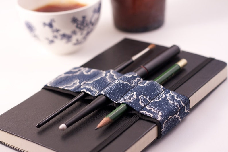Journal Bandolier // alt pencil case // navy tempest  image 0