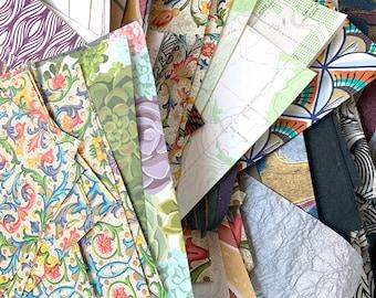 Decorative paper - collage scrap sampler pack 3 oz. ( 90 grams ) of paper
