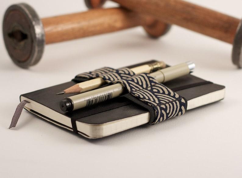Mini Bandolier // zen garden navy // a better pencil case image 0