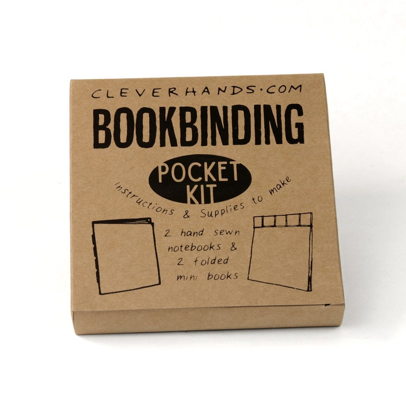 Pocket bookbinding kit  learn to make two sewn bindingsand image 0