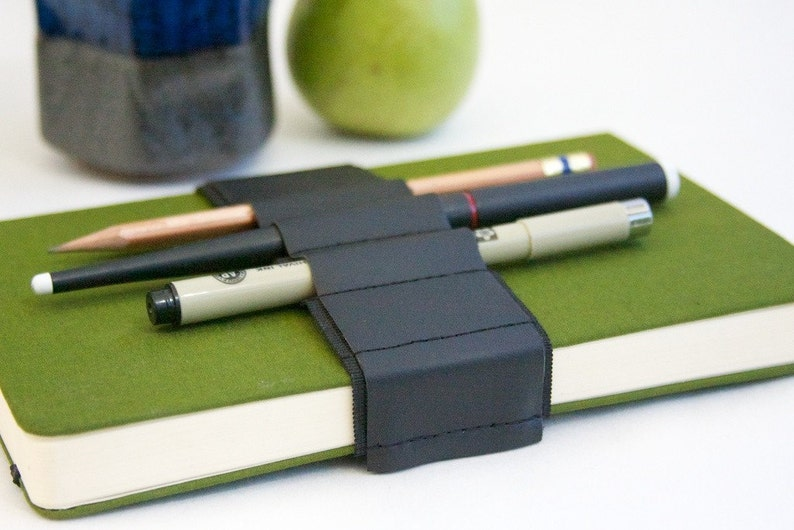 Journal Bandolier // black leather // a better pencil case image 0