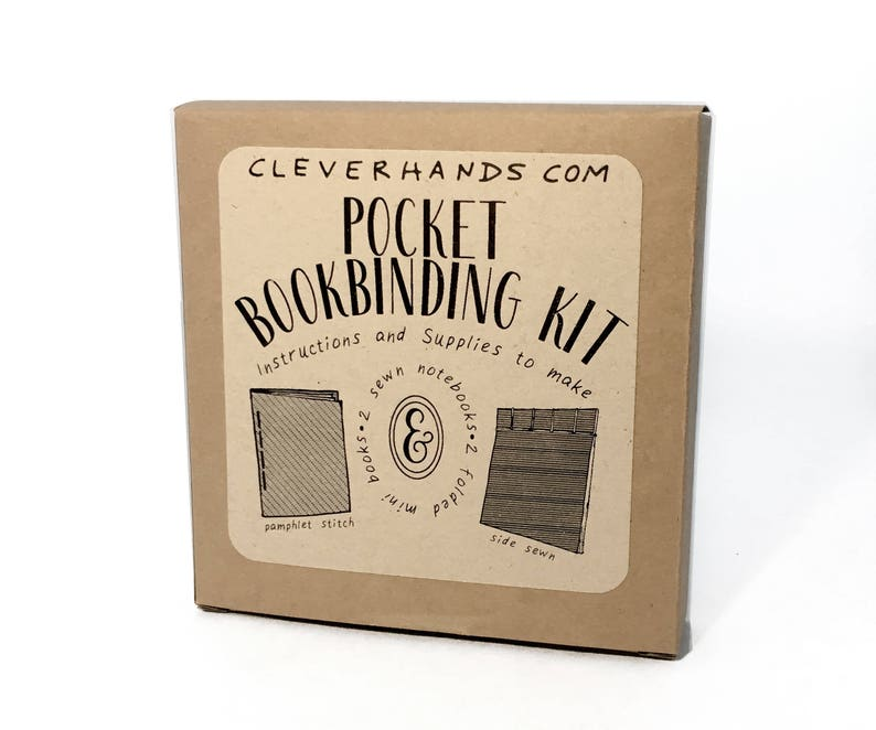 Pocket bookbinding kit  learn to make two sewn bindingsand image 0