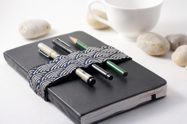 Journal Bandolier // Zen Garden Navy // a better pencil case image 0