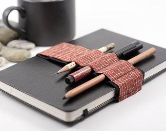 Journal Bandolier // brickhouse // (a better pencil case, journal pen holder, book strap, pen loop, pencil roll, pen bandolier)