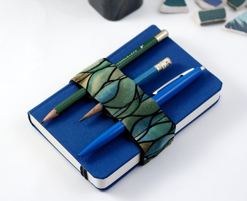 Mini Bandolier // green waves // a better pencil case image 0