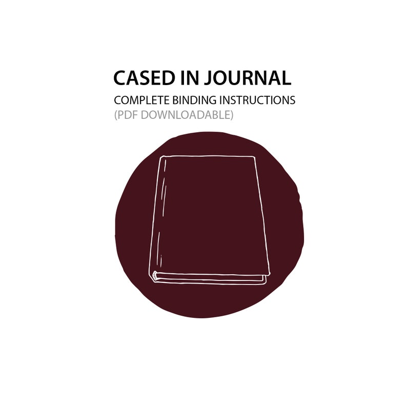 Cased in journal Bookbinding instructions only PDF DOWNLOAD image 0