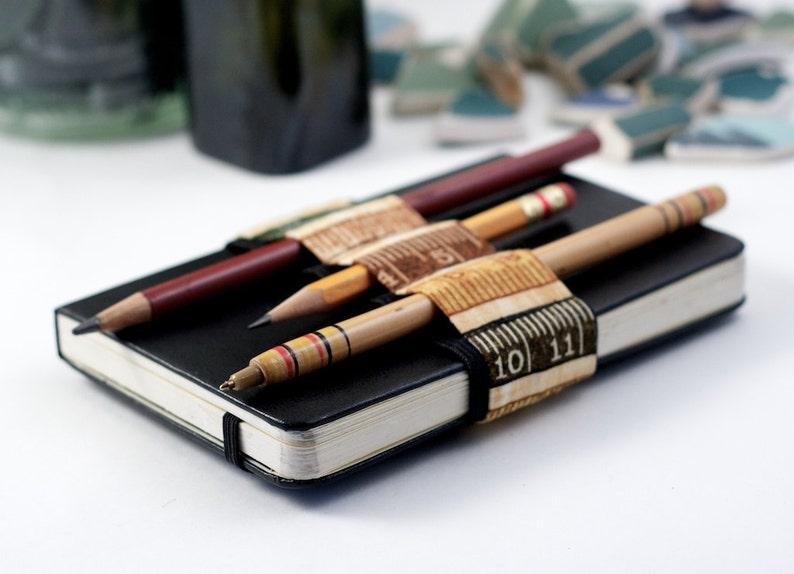 Mini Bandolier // earth tone ruler // a better pencil case image 0