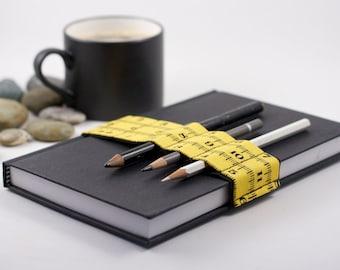 Journal Bandolier // yellow inches // (a better pencil case, journal pen holder, book strap, pen loop, pencil roll, pen bandolier)