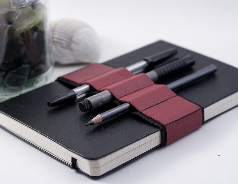 Journal Bandolier // red leather // a better pencil case image 0