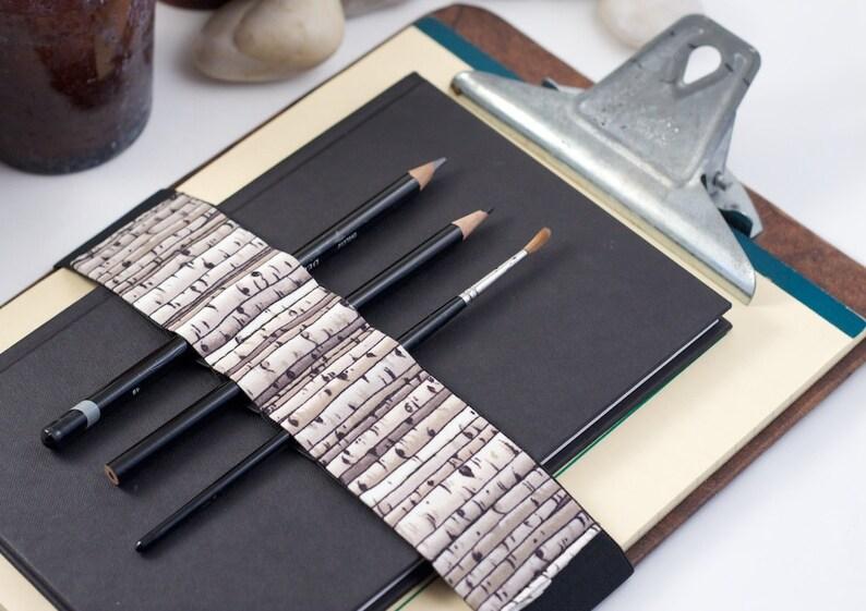 Large Journal Bandolier // birches // a better pencil case image 0