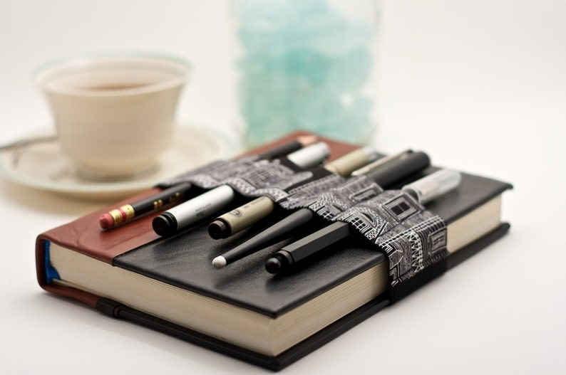 Journal Bandolier // black & white city // a better pencil image 0