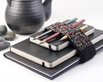 Adjustable Bandolier / pencil case alternative / dragonfly