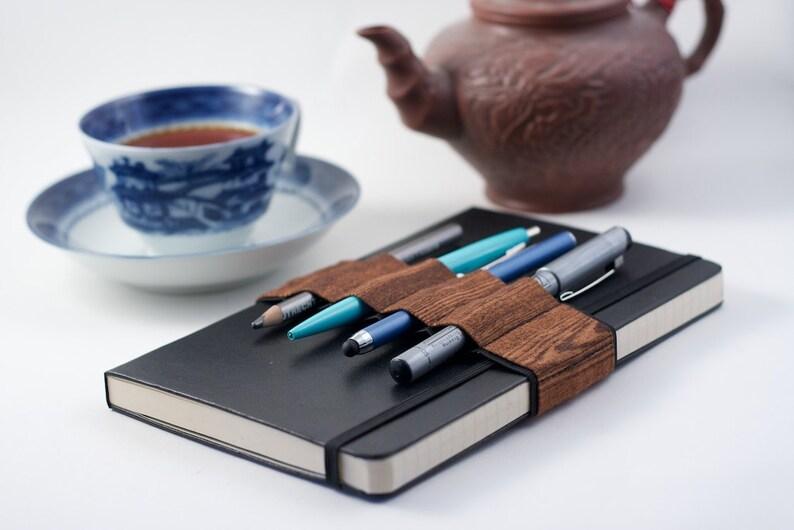 Journal Bandolier // wood grain // a better pencil case image 0