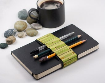 Journal Bandolier / Bamboo / alt pencil case