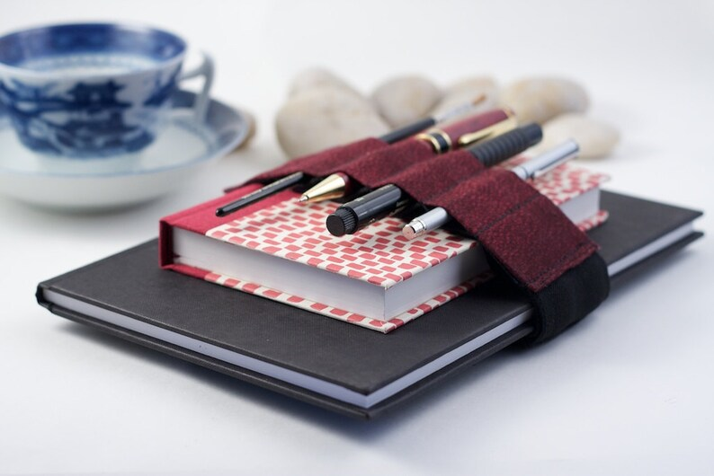Adjustable Bandolier / pencil case upgrade / Red Speckles image 0