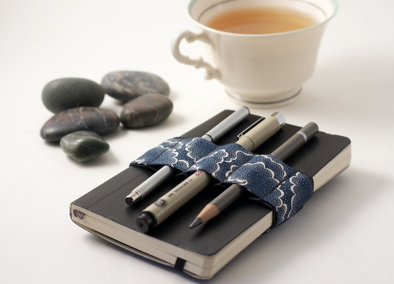 Mini Bandolier // navy tempest // a better pencil case image 0
