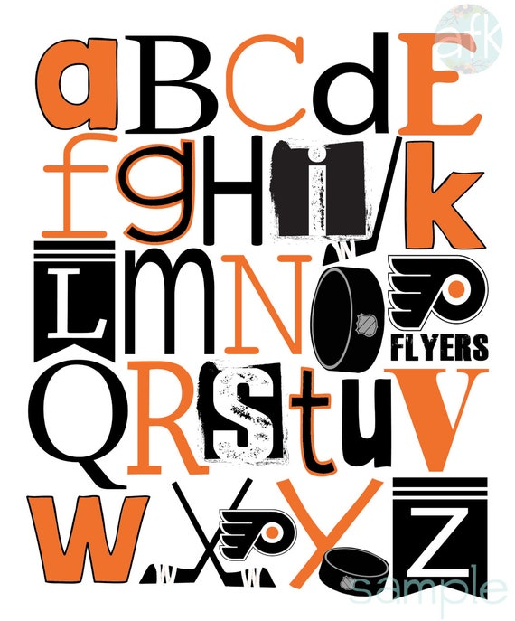 image relating to Philadelphia Flyers Printable Schedule called PHILLY FLYERS AbC 123 PdF printable artwork prints