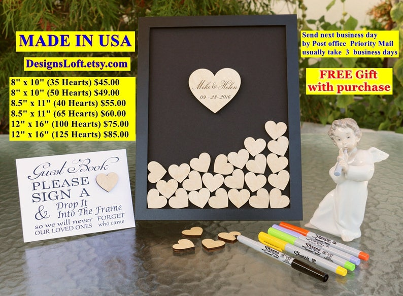 Wedding Guest Book Alternative  Personalized Wedding Guest image 0