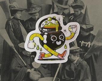Cauldron Folk   Halloween sticker   Holographic details
