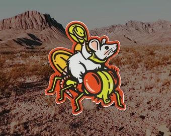 RODEO RAT   vinyl sticker yeehaw