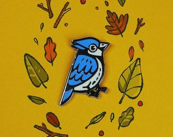 Blue Jay enamel pin | bird pin | put a bird on it