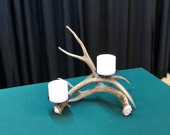 Real Antler Single pillar candle holder