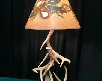 Real Whitetail Antler 2 tier table lamp