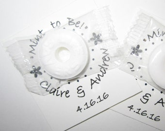 "Custom Made ""Mint to Be""  Mint Favors Set of 25"