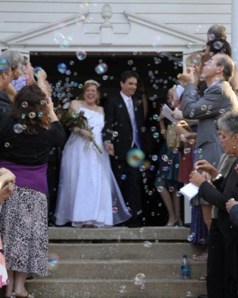 Customized Set of 75 Wedding Bubble Tubes