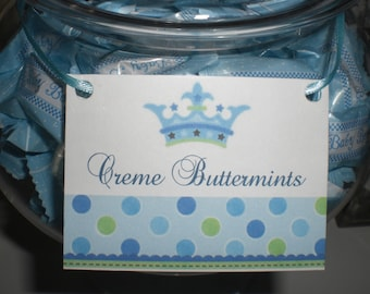 12 Handmade Prince Candy Buffet Labels for your Baby Shower or Birthday
