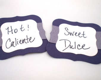 Custom-Made Embossed Favor Tags or Candy Buffet Labels  Set of 6