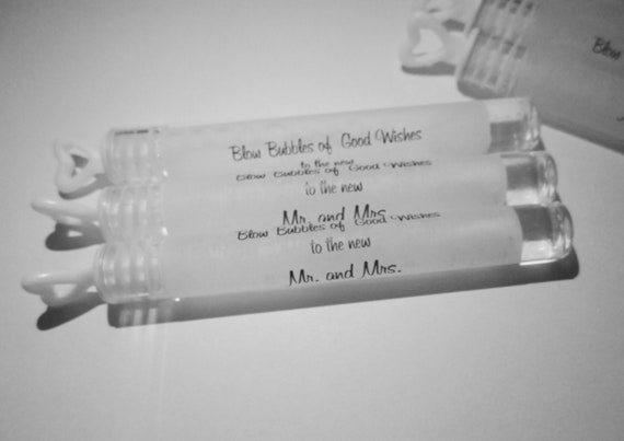 40 Bubbles of Good Wishes Wedding Bubble Tubes with Labels