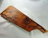 French Pattern Cherry Bread Baguette Board with Lichtenberg Figures 5-7 quot by 18 quot