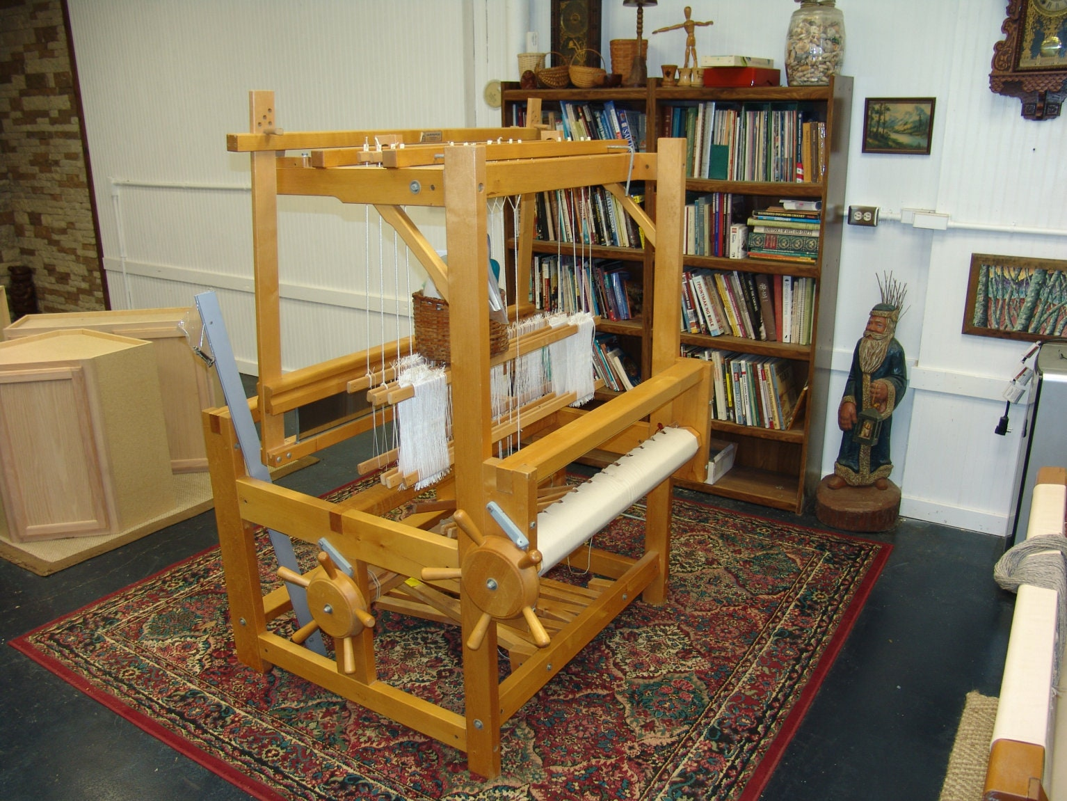 Rare Varpapuu Countermarch Loom Finland 4 Shaft 40 inch Reed