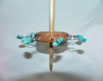 Tibetan Support Spindle, Cave Bear Totems  67g...15 inches tall...