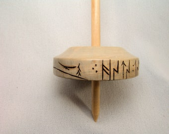 Talking Holly Whorl Tibetan Compromise Support Spindle...Here there be Dragons