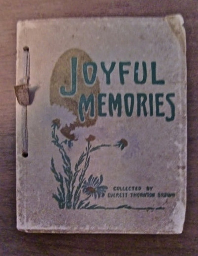 Joyful Memories Poems Collected by Everett Thornton Brown image 0