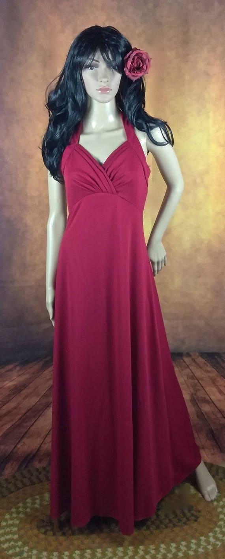 Ravishing Red Maxi Dress//Halter Style Neckline//Vampire She | Etsy
