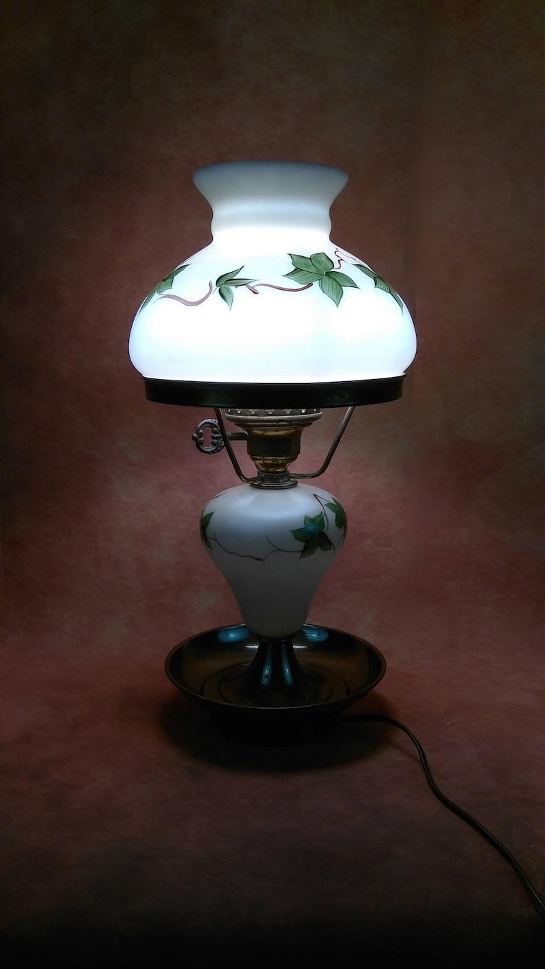 Vintage Art Deco Satin Glass Butterfly Wings Boudoir Lamp Soft And Light Art Deco
