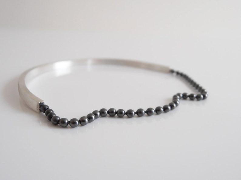 handmade bangle black sterling silver black silver silver jewelry Simple bracelet silver bangle silver bracelet
